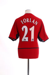 2002-04 Manchester United Home Shirt Forlan #21 M