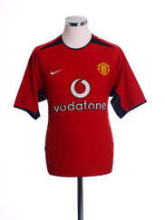 2002-04 Manchester United Home Shirt S