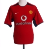 2002-04 Manchester United Home Shirt Saha #9 L
