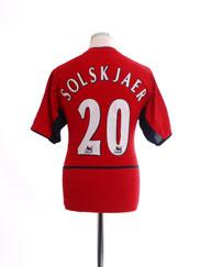 2002-04 Manchester United Home Shirt Solskjaer #20 L