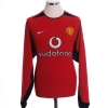 2002-04 Manchester United Home Shirt Beckham #7 L/S *Mint* L