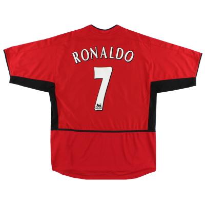 2002-04 Manchester United Home Shirt Ronaldo #7 L