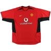 2002-04 Manchester United Nike Home Shirt Keane #16 L