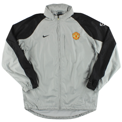 2002-04 Manchester United Nike Hooded Rain Coat L