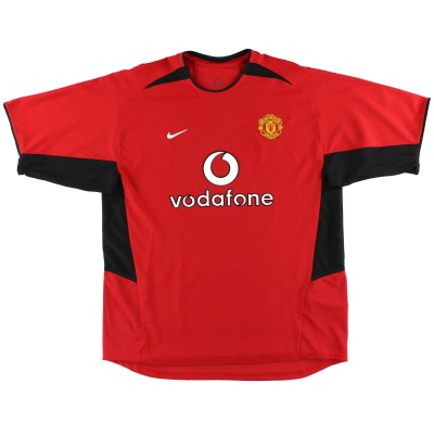 2002-04 Manchester United Nike Home Shirt L