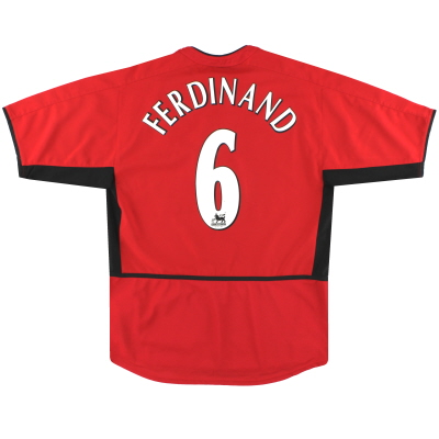 2002-04 Manchester United Nike Home Shirt Ferdinand #6 S