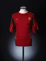 2002-04 Portugal Home Shirt M