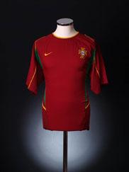 2002-04 Portugal Home Shirt *Mint* XL