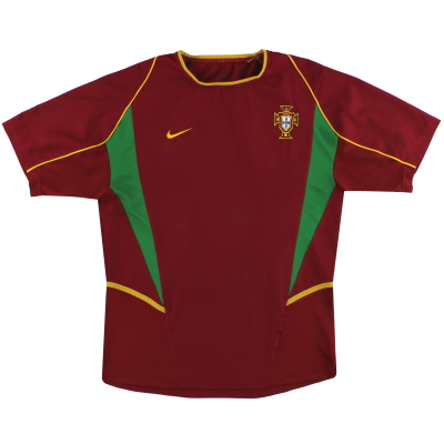 2002-04 Portugal Nike Player Issue Home Shirt L