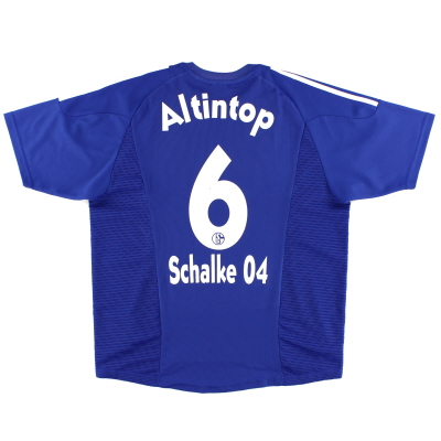 2002-04 Schalke Home Shirt Altintop #6 L