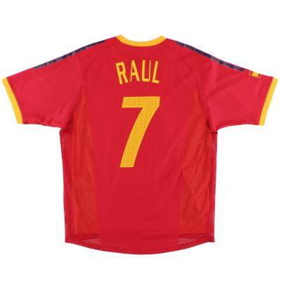 2002-04 Spain adidas Home Shirt Raul #7 M