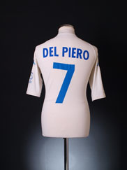 2002 Italy Away Shirt Del Piero #7 XXL