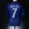 2002 Japan Player Issue Home Shirt Nakata #7 L