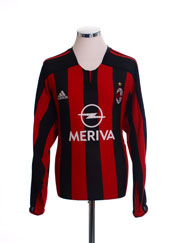 2003-04 AC Milan Champions League Home Shirt L/S L