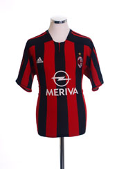 2003-04 AC Milan Home Shirt L