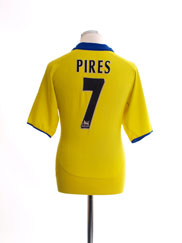 2003-04 Arsenal Away Shirt Pires #7 L