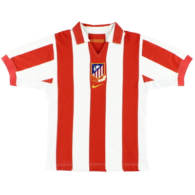 2003-04 Atletico Madrid Nike Centenary Home Shirt L