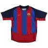 2003-04 Barcelona Home Shirt Saviola #7 L
