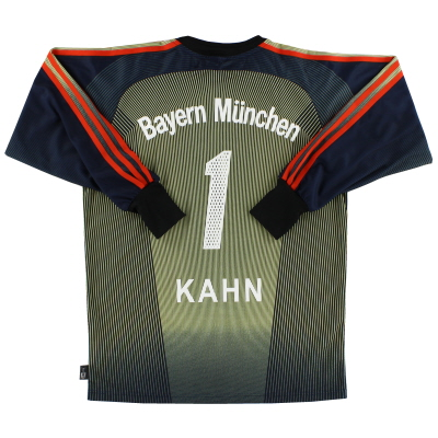 2003-04 Bayern Munich adidas Goalkeeper Shirt Kahn #1 XL.Boys