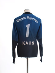 2003-04 Bayern Munich Goalkeeper Shirt Kahn #1 L