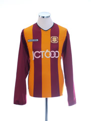2003-04 Bradford City Centenary Home Shirt L/S M