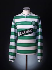 2003-04 Celtic Home Shirt L/S L