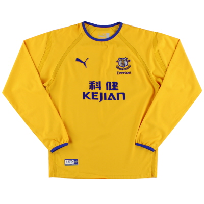 2003-04 Everton Away Shirt L/S *Mint* M
