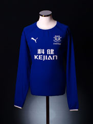 2003-04 Everton Home Shirt L/S  XL