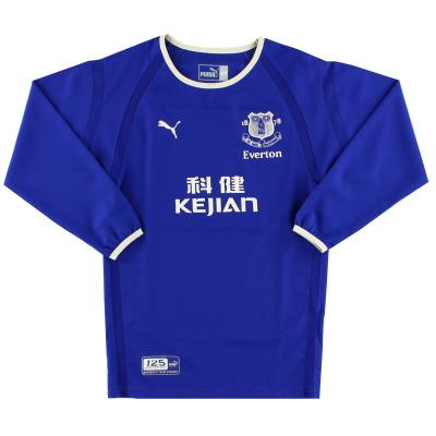2003-04 Everton Puma Home Shirt L/S XXL.Boys