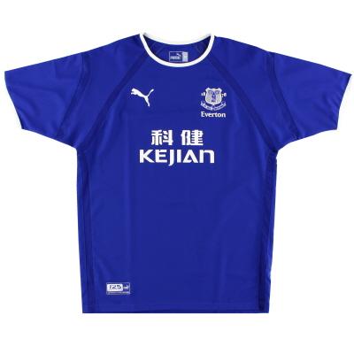 2003-04 Everton Puma Home Shirt L
