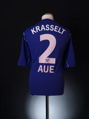 2003-04 FC Erzgebirge Aue Home Shirt Krasselt #2 XXXL