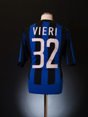 2003-04 Inter Milan Home Shirt Vieri #32 XL