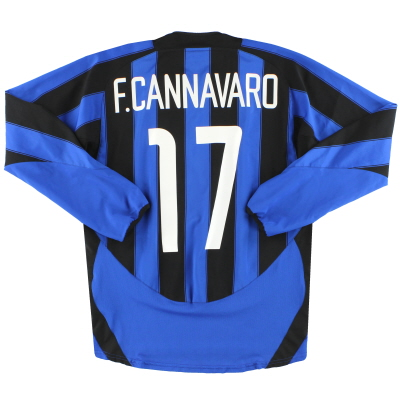 2003-04 Inter Milan Nike Home Shirt F.Cannavaro #17 L/S M