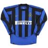 2003-04 Inter Milan Nike Home Shirt F.Cannavaro #17 L/S M