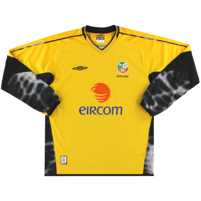 2003-04 Ireland Umbro Goalkeeper Shirt M
