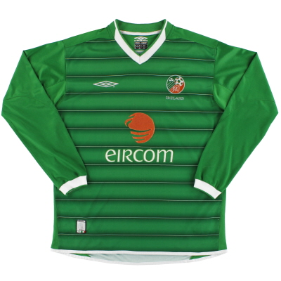 2003-04 Ireland Umbro Home Shirt L/S M