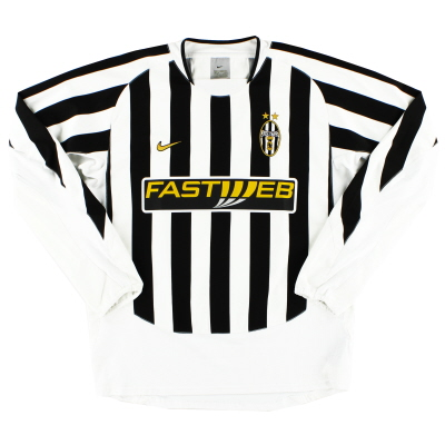 2003-04 Juventus Home Shirt L/S L