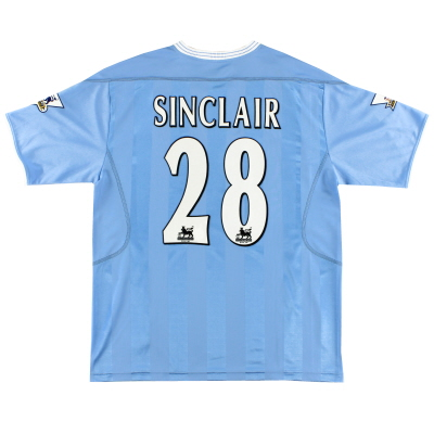 2003-04 Manchester City Home Shirt Sinclair #28 L