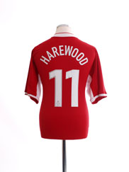 2003-04 Nottingham Forest Home Shirt Harewood #11 L