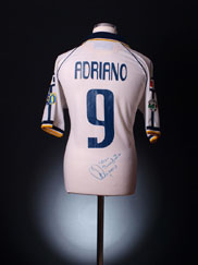 2003-04 Parma Match Issue Signed Away Shirt Adriano #9