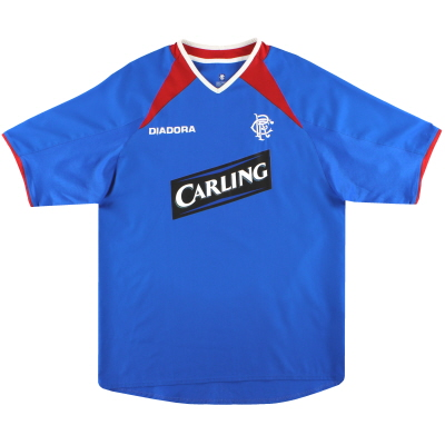 2003-04 Rangers Diadora Home Shirt L