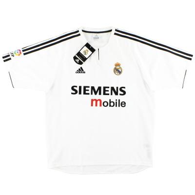 2003-04 Real Madrid adidas Home Shirt *w/tags* XXL