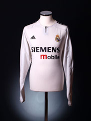 2003-04 Real Madrid CL Home Shirt L/S *Mint* XXL