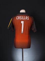 2003-04 Real Madrid Goalkeeper Shirt Casillas #1 S