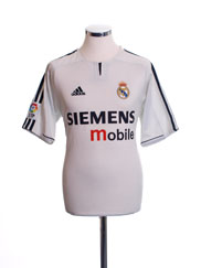 2003-04 Real Madrid Home Shirt S
