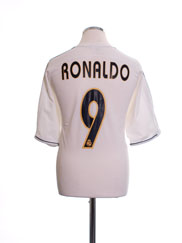 2003-04 Real Madrid Home Shirt Ronaldo #9 M
