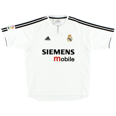 2003-04 Real Madrid adidas Home Shirt XL