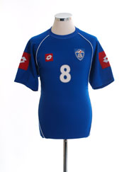 2003-04 Serbia & Montenegro Match Issue Home Shirt #8 M