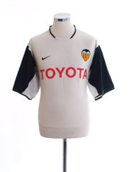 2003-04 Valencia Home Shirt L