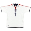 2003-05 England Home Shirt Beckham #7 XL